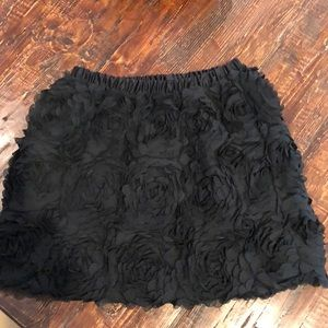 Beautiful flower designed black  skirt